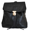 Black Backpack Small Size With Front Flap