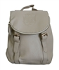 Beige Backpack Small Size With Front Flap