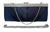 Navy Blue Cocktail Evening Wedding Clutch Purse