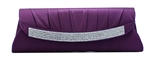 Purple Wedding Cocktail Clutch Purse