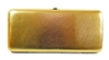 Gold Snake Skin Print Hard Clutch Wallet