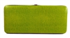 Green Snake Skin Print Hard Clutch Wallet