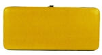 Yellow Snake Skin Print Hard Clutch Wallet