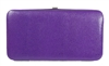 Purple Snakeskin Print Small Flat Hard Clutch Wallet