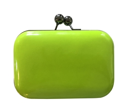 Neon Yellow Hard Case Evening Clutch Purse
