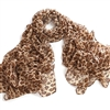 Light Brown Leopard Animal Print Chiffon Scarf