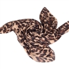 Dark Brown Animal Print Chiffon Scarf