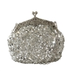 Silver Sequin Casual Clutch Bag