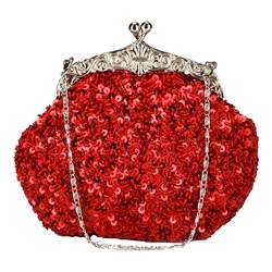Red Formal Sequin Casual Clutch Bag