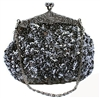 Grey Formal Sequin Casual Clutch Bag