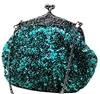 Green Formal Sequin Casual Clutch Bag