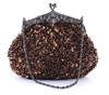 Coffee Brown Formal Sequin Casual Clutch Bag