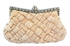 Beige Bridal Pleated Clutch bag