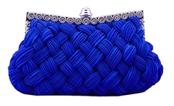 Royal Blue Bridal Pleated Clutch bag