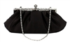 Black Wedding Evening Clutch Purse