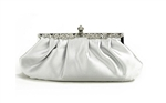 Silver Bridal Wedding Evening Clutch Purse