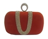 Orange Suede Duster Knuckle Evening Clutch