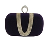 Purple Suede Duster Knuckle Evening Clutch