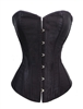 Black Satin & Lace Sexy Strong Boned Corset