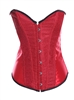 Patent Leather Bustier Corset With Strong Boning