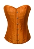 Orange Satin Lace Up Strong Boned Corset