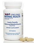 Lewis Family Balanced Multivitamin, Iron-Free (60 tablets)
