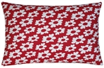 red/white wildflower decorative throw pillow cover