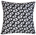 black/white wildflower decorative throw pillow cover
