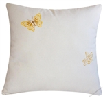 golden yellow butterflies decorative throw pillow cover