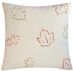 brown/orange leaves of fall throw pillow cover