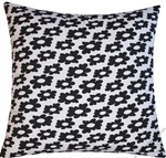white/black wildflower decorative throw pillow cover