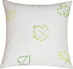 green/yellow leaves of spring decorative throw pillow cover