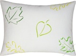 green/yellow leaves of spring throw pillow cover