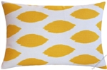 mustard yellow/white chipper throw pillow cover