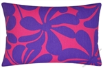purple/candy pink twist decorative throw pillow cover