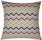 stone blue chevron  zig zag stripe throw pillow cover