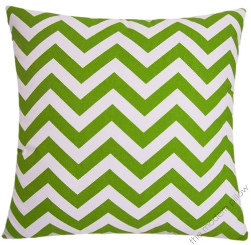 40x40 Chartreuse Lime Green White Chevron ZigZag Stripe New Chartreuse Pillows Decorative