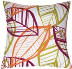 botanical spring leaf indoor/outdoor pillow cover