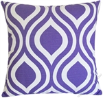 lavender purple thistle decorative throw pillow cover