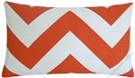 orange/white chevron zig zag decorative throw pillow cover
