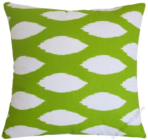 40x40 Chartreuse Lime Green White Chipper Decorative Throw Pillow Classy Chartreuse Pillows Decorative