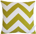 artist green chevron zig zag decorative throw pillow cover