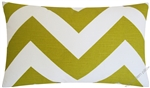 aartist green chevron zig zag decorative throw pillow cover