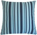 navy blue/light blue beachside stripe decorative throw pillow cover