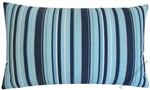 navy blue / light blue beachside stripe decorative throw pillow cover