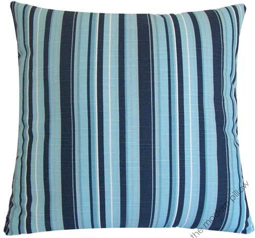 20x20 Navy BlueLight BlueGray Beachside Stripe Decorative Throw