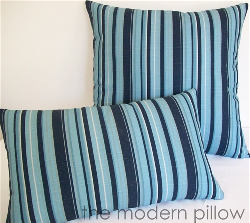 40x40 Navy BlueLight BlueGray Beachside Stripe Decorative Throw Mesmerizing Light Blue Throw Pillow Covers