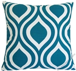 deep aqua blue thistle decorative throw pillow cover