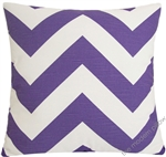 lavender purple chevron zig zag decorative throw pillow cover