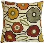 fall pia flower decorative throw pillow cover